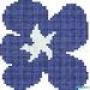Мозаичное панно Piscine Fiore  Blu Medio