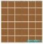 Мозаика однотонная Serapool фарфоровая 5х5 см, терракот