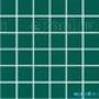 Мозаика однотонная Serapool фарфоровая 5х5 см, темно-зеленая