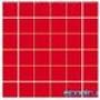 Мозаика однотонная Serapool фарфоровая 5х5 см, красная