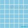 Мозаика однотонная Serapool фарфоровая 5х5 см, голубой mix (2 цв