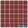 Мозаика однотонная Serapool фарфоровая 5х5 см, бордо