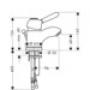 Смеситель однорычажный Axor Carlton для раковиныины, хром 170100