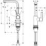 Смеситель однорычажный Metris S для раковины, хром 31161000